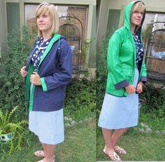 Vintage Raincoat / 70s Raincoat / 60s 70s Coat by BeatniksVintage