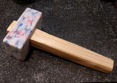 Milk Bottle (HDPE) mallet, the handle is just a bit of scrap cls shaped and given a quick oil.