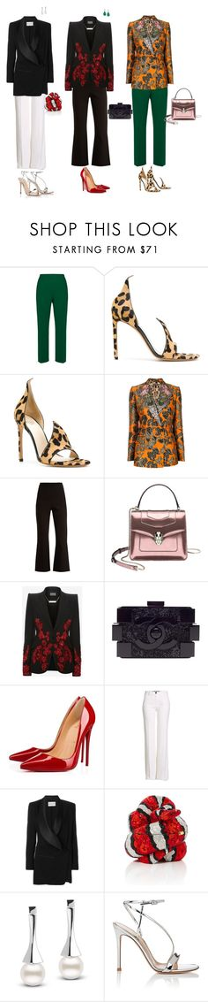 """""""Untitled #559"""" by jimle ❤ liked on Polyvore featuring Marni, Francesco Russo, Dolce&Gabbana, Roland Mouret, Alexander McQueen, Chanel, Christian Louboutin, Roberto Cavalli, Vionnet and Gianvito Rossi"""