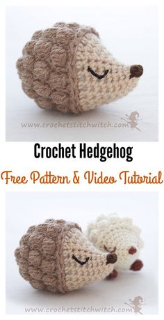 Crochet Diy Crochet Hedgehog Amigurumi Free Patterns - With these Crochet Hedgehog Amigurumi Free Patterns, you can make cute hedgehogs as gifts for kids or friends. They're pretty quick and easy. Crochet Gratis, Crochet Diy, Love Crochet, Crochet Dolls, Tutorial Crochet, Crochet Cross, Crochet Bear, Crotchet, Crochet Flowers