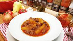 Pincepörkölt  vegyes pörkölt / Szoky konyhája  / Thai Red Curry, French Toast, Breakfast, Ethnic Recipes, Food, Youtube, Red Peppers, Morning Coffee, Essen