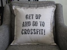 Crossfit Pillow on Etsy, $27.50 #crossfit