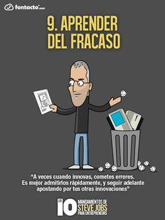9. Aprende del Fracaso - Los 10 mandamientos de Steve Jobs para Emprendedores.