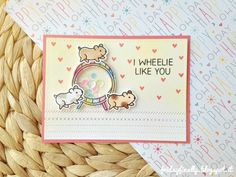 Lawn Fawn - Wheelie Like You, Stitched Borders _ card by Francesca for Fawny Flickr Friday {7.29.16} via Flickr