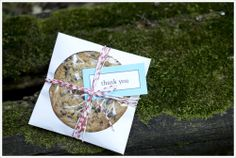 DIY | Chocolate Chip Cookie wedding favors! #totallyme