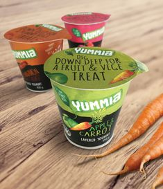 Yummia Fruit and Vegetable Yoghurts — The Dieline - Branding & Packaging