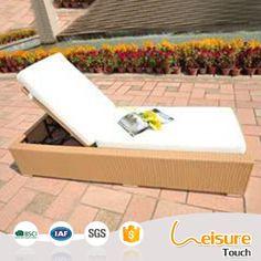 Outdoor Garden patio wicker furniture beach pool lounge chair rattan lying bed sun lounger