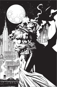 Batman & Catwoman by Jim Lee