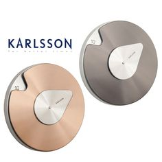 Karlsson  Drop Brushed Copper Metal Stainless Steel Wall Clock