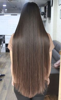 Silky Smooth Hair, Glossy Hair, Long Brown Hair, Super Long Hair, Beautiful Long Hair, Layered Cuts, Female Images, Hair Beauty, Long Hair Styles