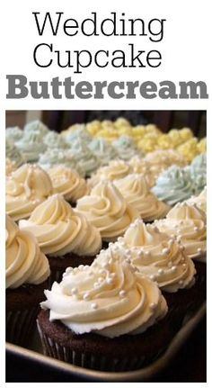 Wedding Cupcake Buttercream:  a buttercream frosting recipe that is perfect for cupcakes and cakes.  It pipes beautifully! Small Wedding Cakes, Wedding Cupcakes, Wedding Cupcake Recipes, Recipe Girl, More Cupcakes, Sleep Apnea, Cupcake Ideas, Cakepops, Birthdays
