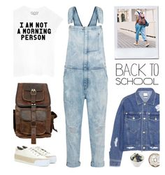 """""""I am not a morning person"""" by junglover ❤ liked on Polyvore featuring Current/Elliott, Steve J & Yoni P, Tory Burch, BackToSchool, backpack, polyvoreeditorial and polyvorecontest"""