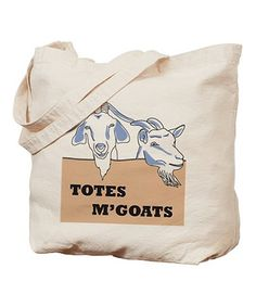 Look at this #zulilyfind! Natural 'Totes M'Goats' Tote, $14 !!  #zulilyfinds