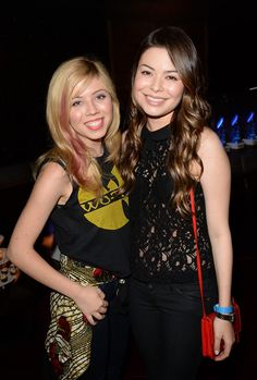 Jennette McCurdy and Miranda Cosgrove attend a private event at Hyde Lounge for the Bruno Mars & Ellie Goulding concert hosted by AQUAhydrate at The Staples Center on July 27, 2013 in Los Angeles, California. (Photo by Jason Merritt/Entertainment/Getty Images for AQUAhydrate)