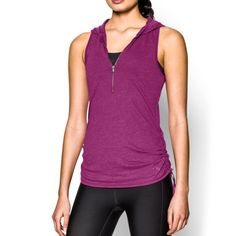 UNDER ARMOUR UA Charged Cotton® Tri-Blend My Way Sleeveless Hoodie. #underarmour #cloth #