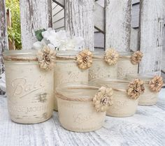 Rustic Vases with Rope