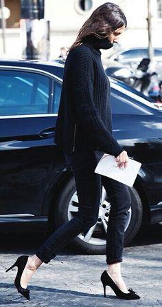 skinny jeans + heels
