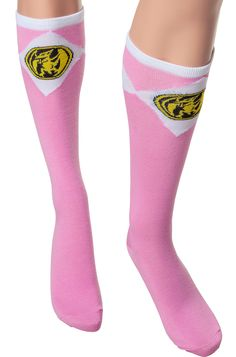 Pink Power Ranger Knee High Socks: Non 80s TV: Power Rangers Socks