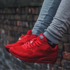 the latest 67fb4 215b2 ... Red 5 Nike Air Max 90 Independence Day With Yeezy lace tips Nike  Joggers, Nike Pants, ...