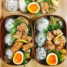 """Original sober bento """"Men& lunchbox and 33 recipes! Asian Recipes, Real Food Recipes, Healthy Recipes, Good Food, Yummy Food, Bento Recipes, Aesthetic Food, Food Inspiration, Food Porn"""