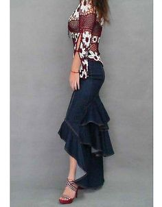 Charming Desim Multi layers Pleated Maxi Long Bodycon Swing Fishtail Skirts S-XL