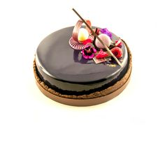 Biscuit pain de g nes sirop vanille gel e de champagne for Glacage miroir 2 couleurs