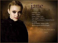 Jane ~ my least fav character