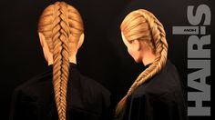 How to do an inverted fishtail braid hairstyle - video tutorial (How-to)...