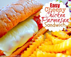 Easy, Cheesy, Chicken Parmesan Sandwiches & Family Game Night - Mom On Timeout
