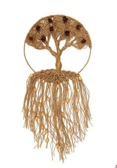 Not Wire: Weaved/macrame? Tree of life