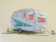 Stephanie Clark   embroidery on canvas