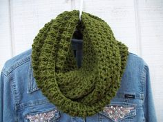 Crocheted Infinity Scarf / Cowl / Snood - pinned by pin4etsy.com
