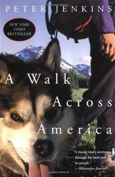 A Walk Across America by Peter Jenkins, http://www.amazon.com/dp/006095955X/ref=cm_sw_r_pi_dp_V19Urb1HWJ7YH