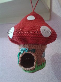 Saquito de crochet para agapornis