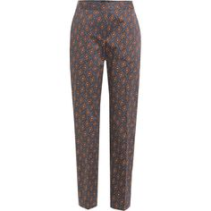 Burberry London Printed Cotton Pants (44.120 RUB) ❤ liked on Polyvore featuring pants, bottoms, trousers, multicolored, multi color pants, cropped trousers, cotton trousers, burberry pants and burberry