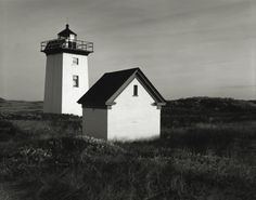 Michael Schley. East End Lighthouse. Provincetown MA. Cape Cod. Gelatin Silver Print.