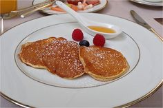 Pancakes - Breakfast - Restaurant - Rocco Forte Hotel Villa Kennedy in Frankfurt Germany