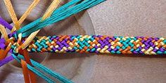 I LOVE these colors together! Aren't they beautifully matched?? NAIKI -- 16-element Braid Instructions