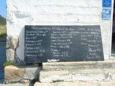 Carta Restaurante del Muelle Islas Cíes