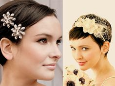 short wedding hairstyles with accessories