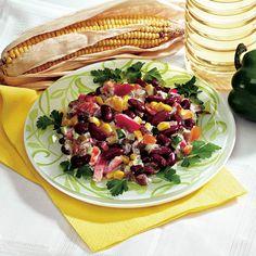 Salată mexicană - Retete culinare - Romanesti si din Bucataria internationala Quesadilla, Enchiladas, Guacamole, Cobb Salad, Pasta, Cooking, Recipes, Food, Chili Con Carne