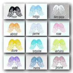 ailes anges transparents 5 cm polyester verni : pour figurine
