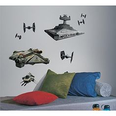 RoomMates RMK2657GM Star Wars Rebel and Imperial Ships Peel and Stick Giant Wall Decals >>> More info could be found at the image url. (Note:Amazon affiliate link)
