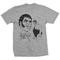 Andre The Giant - Pro Wrestler - Signature T-shirt Giants Shirt, Andre The Giant, Direct To Garment Printer, Cotton Tee, Tees, Mens Tops, T Shirt, Women, Fashion