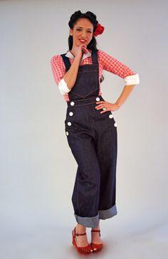 Adorable rockabilly overalls.
