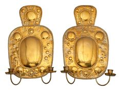 Gustavian Style Brass Wall Candle Lamps from SCANDIADECOR.COM