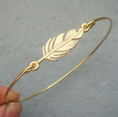 Leaf Brass Bangle Bracelet Style 7 by turquoisecity on Etsy, $10.95  - mothers day for me? =)