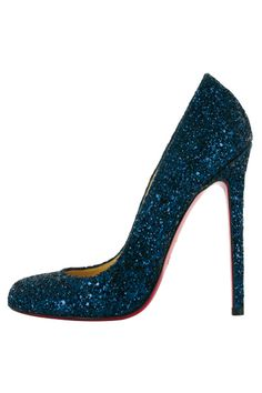 Christian Louboutin (love the blue glitter but am tired of sky-high heels. Bring it down an inch or 2!)