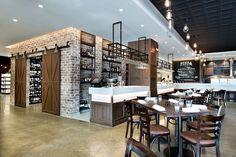Mercato e Cucina by Mima Design, Sydney – Australia Greens Restaurant, Cafe Restaurant, Restaurant Design, Visual Merchandising, Bar A Vin, Supermarket Design, Retail Solutions, Bar Design Awards, Rustic Cafe