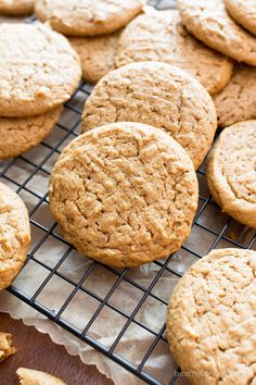 Easy Vegan Peanut Butter Cookies (V, GF): an easy recipe for comforting peanut butter cookies that are lightly crispy on the outside, soft and chewy on the inside, made with healthy, whole ingredients! #Vegan #GlutenFree #DairyFree #Healthy #Dessert #ProteinRich | Recipe on BeamingBaker.com